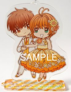 Acrylic stand keyholder drawn by CLAMP from Box 1.
